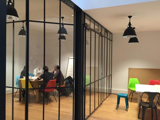 Verri re atelier dans bureaux verri re d 39 int rieur - Verrieres interieur style atelier ...