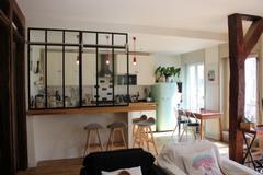 Verrière coulissante de cuisine - Verrière d\'intérieur atelier - AKR ...