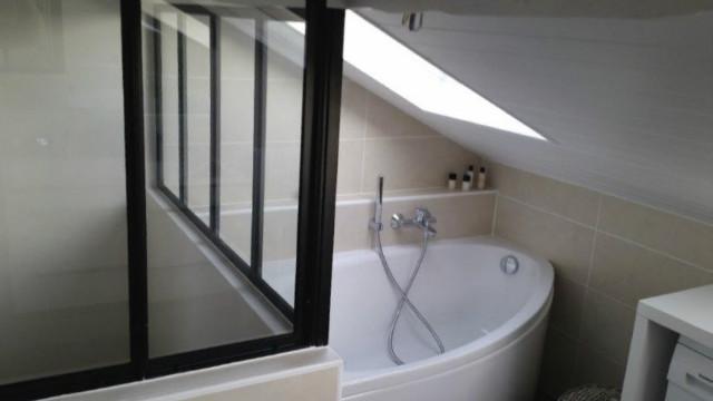 Verrière d\'atelier pour salle de bains - Verrière d\'intérieur ...